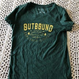 Aeropostale forest green graphic tee Sz M